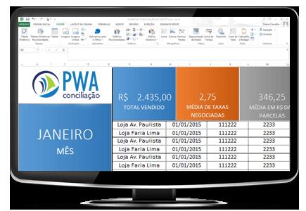 planilha de conciliacao de cartao pwa solutions